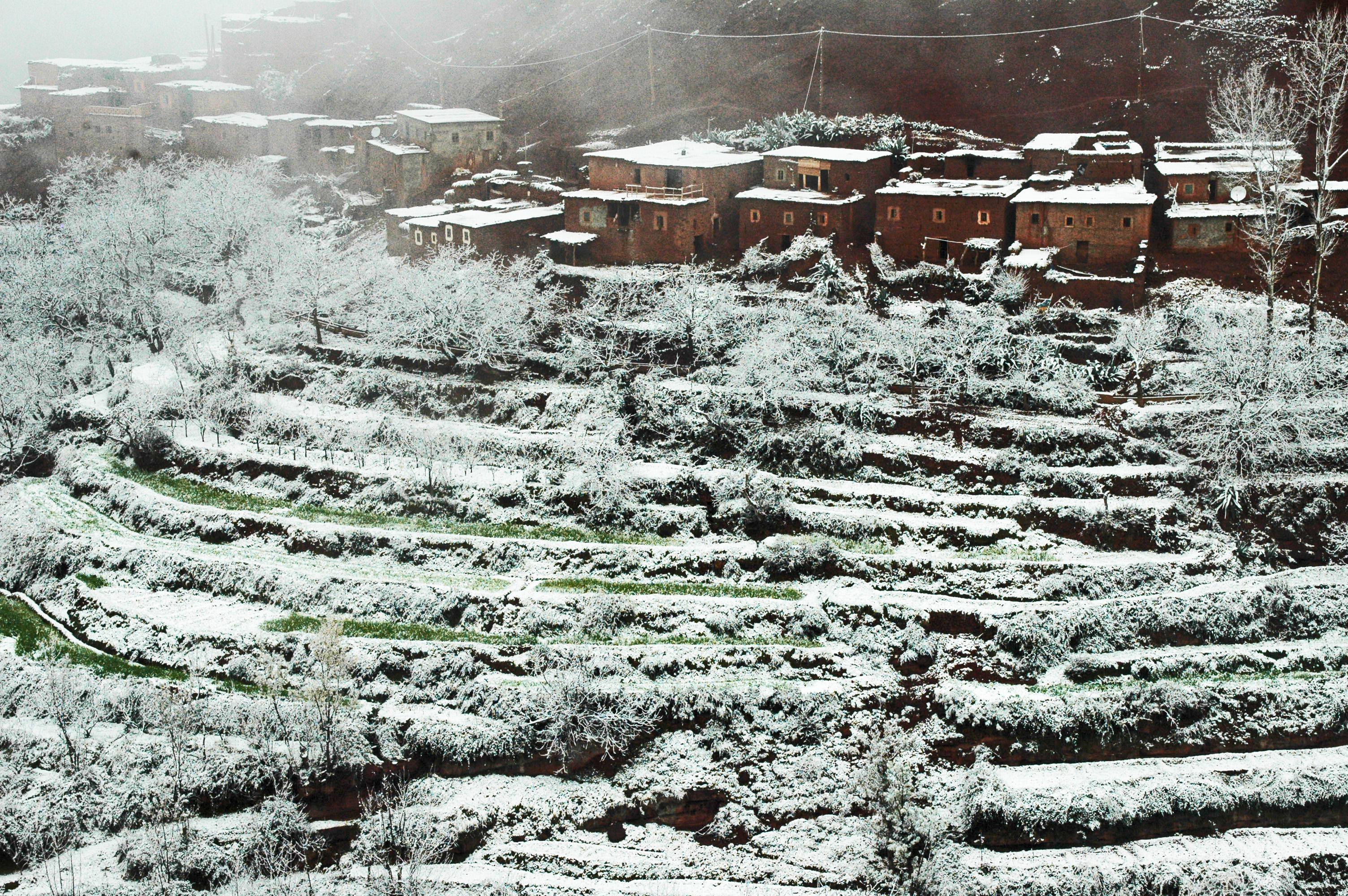 High Atlas snow-covered village © JonoVernon-Powell