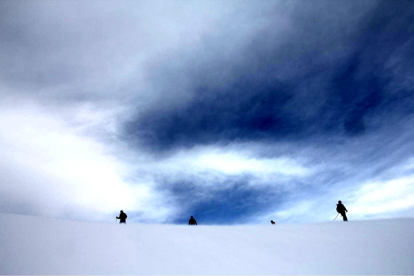 Stick skiers © JonoVernon-Powell