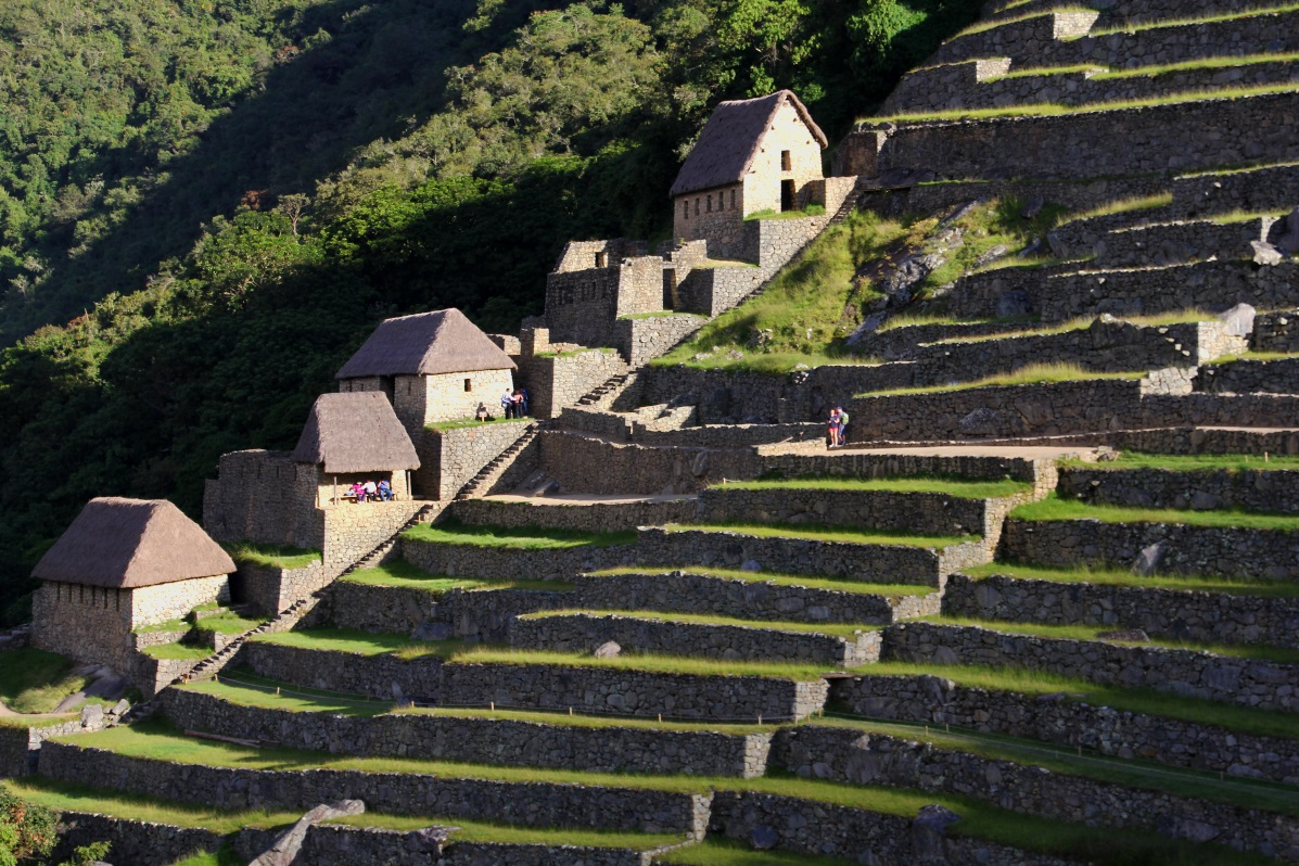 Macchu Pichu steps & houses © Nomadic Thoughts.com