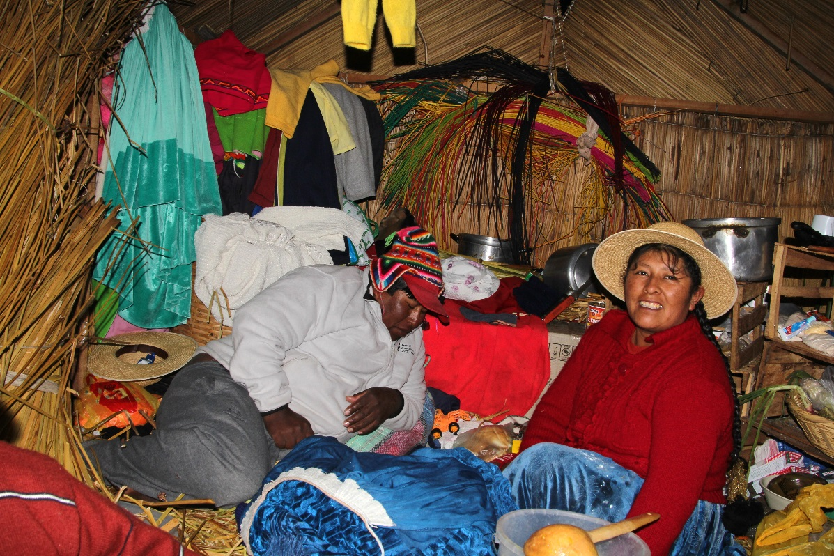Uros Island house interior © Nomadic Thoughts.com