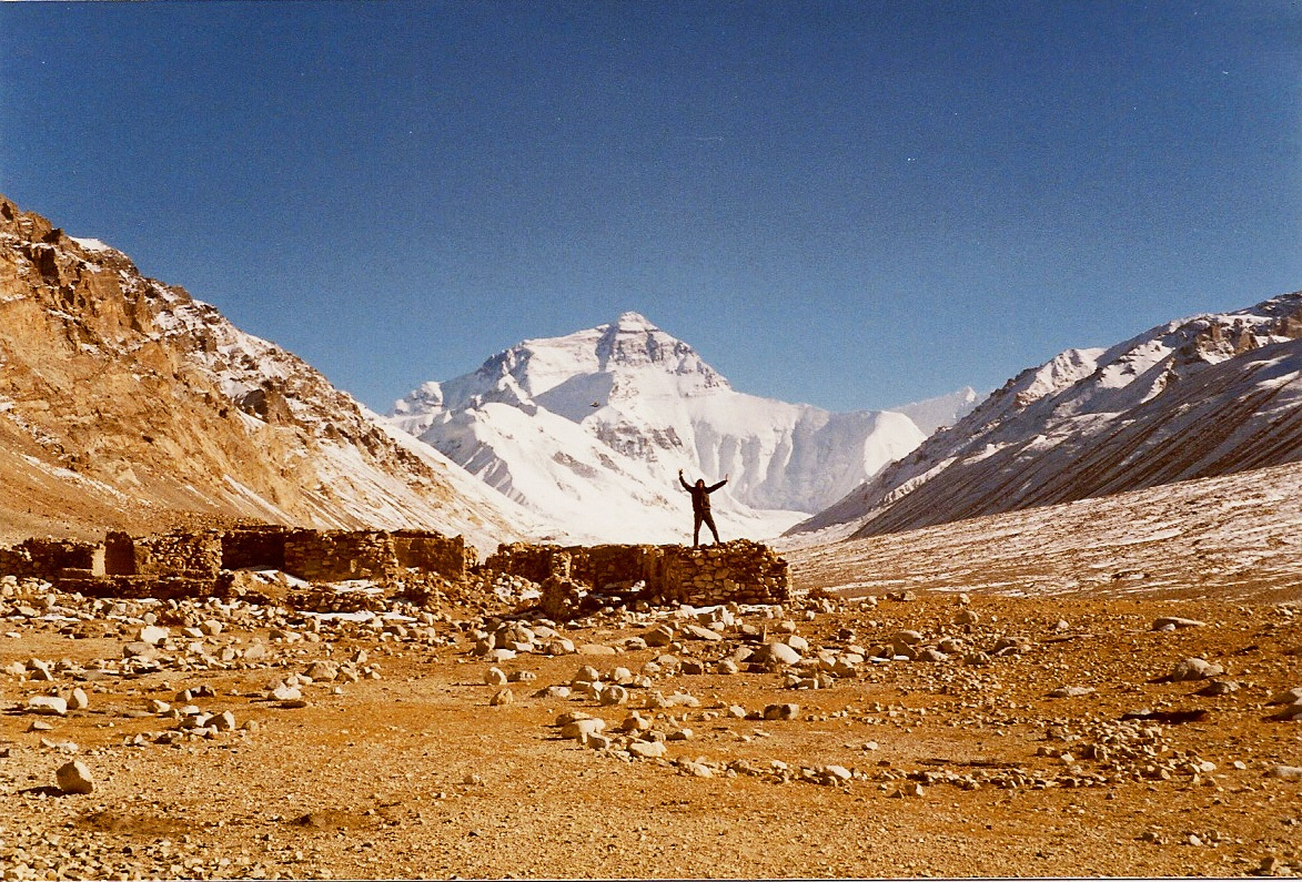 JVP with North Face of Mount Everest, Tibet side 1985.