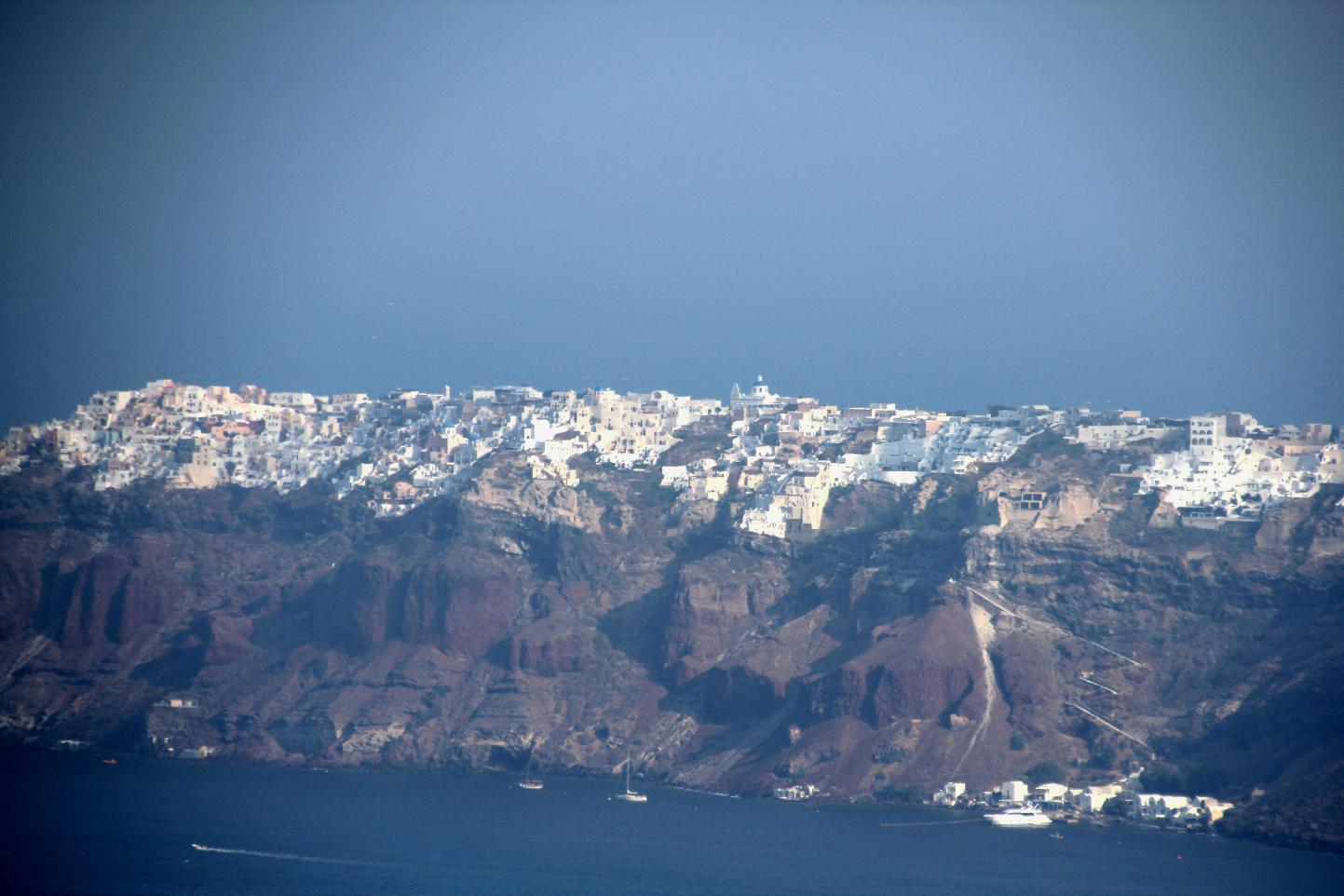 Santorini on cliff top © JonoVernon-Powell.com