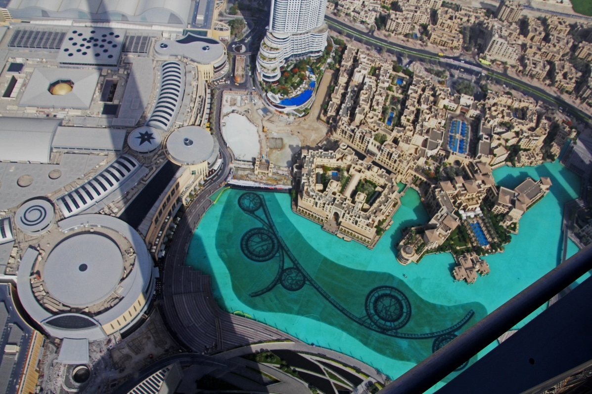 View from Observation Deck of Burj Khalifa (highest building in the world)