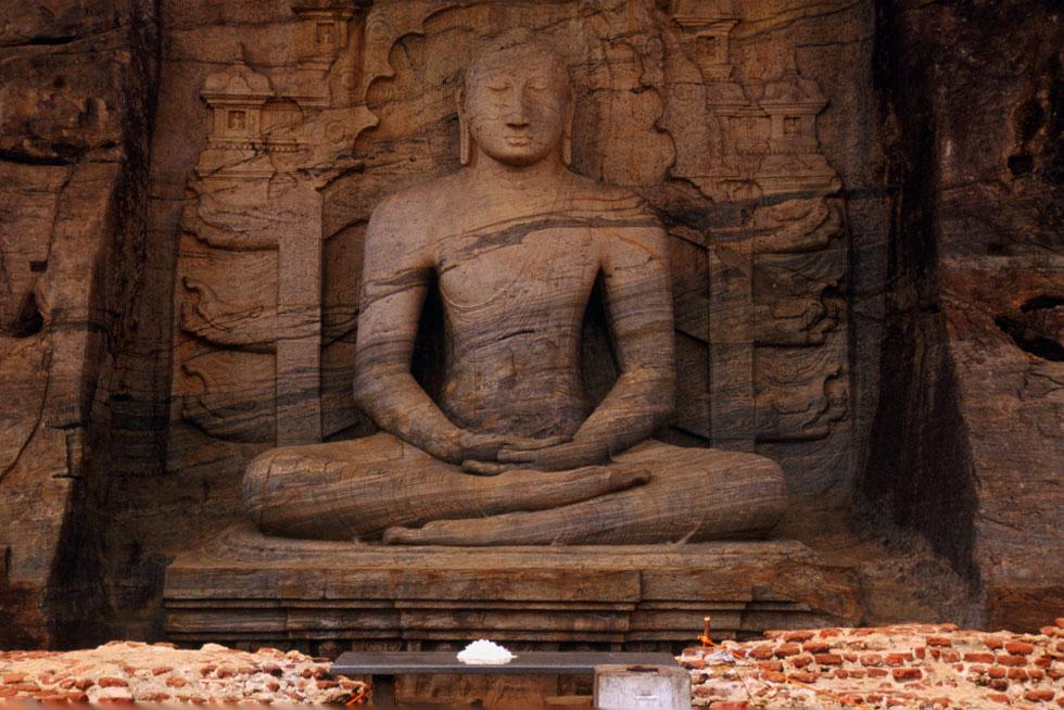 Seated Buddha, Gal Vihara, Polonnaruwa - Sri Lanka.