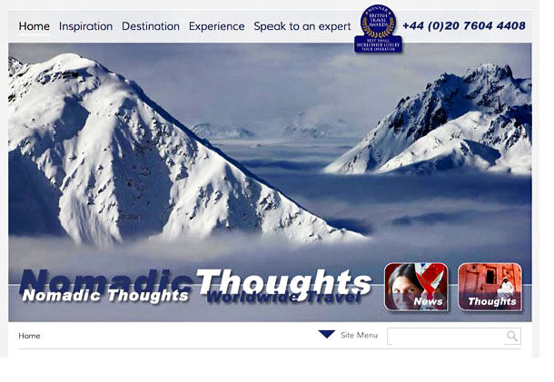 Nomadic Thoughts (Worldwide Travel) - web-site Home Page