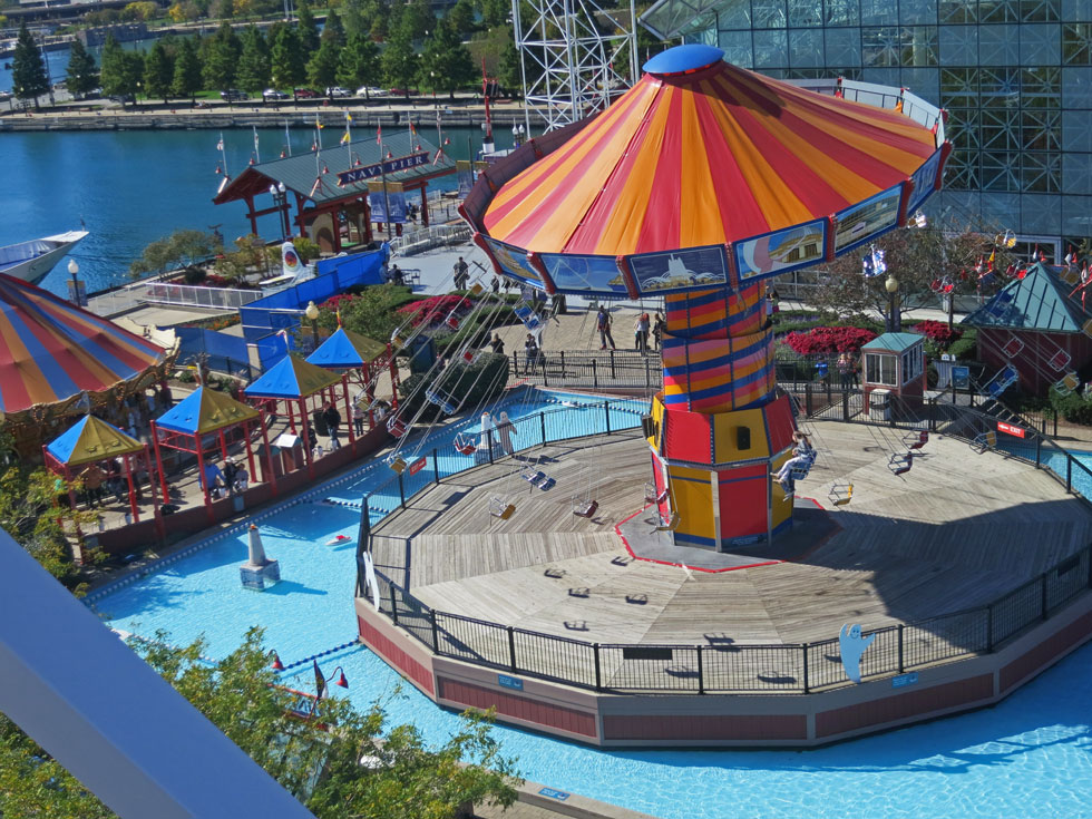 View from Navy Pier ferris wheel.