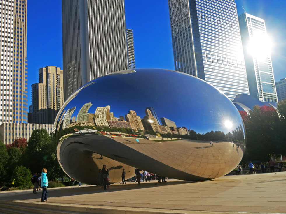 Anish Kapoor's Cloud Gate - or 'the bean', Chicago.