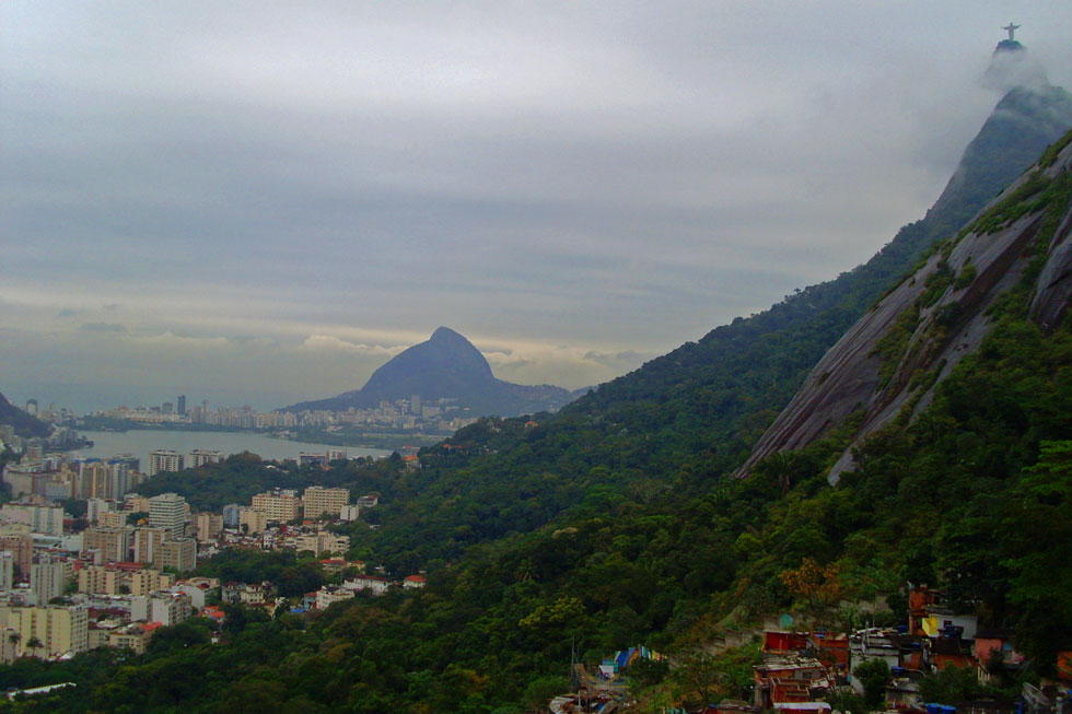 Rio - mountains, beach, favelas & football.