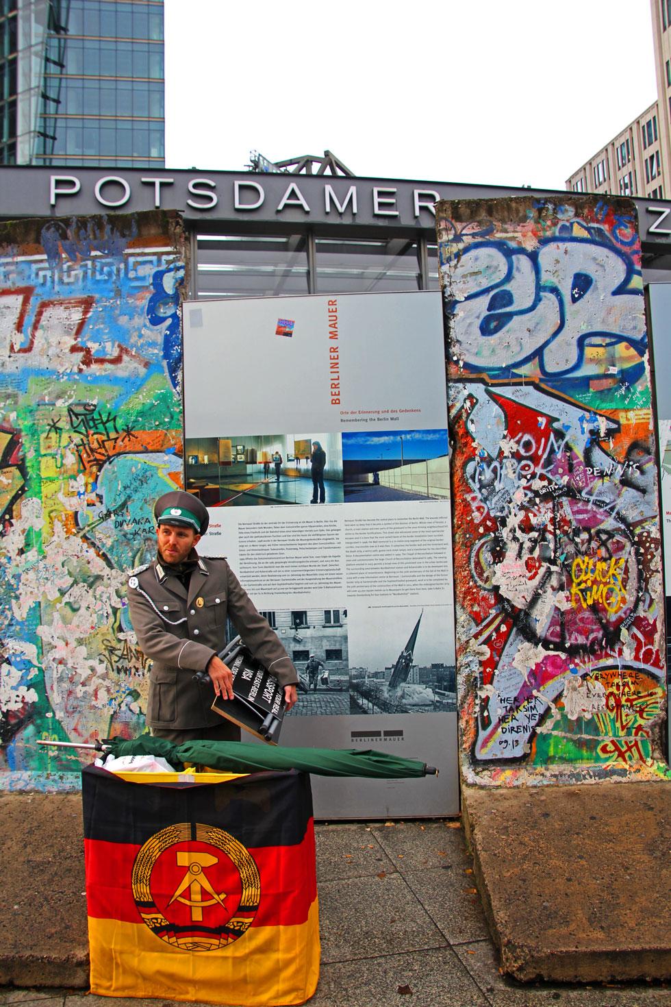 Original Wall that stands at Potsdam Platz