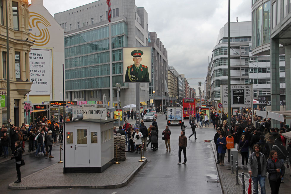 Checkpoint Charlie - looking West to East.
