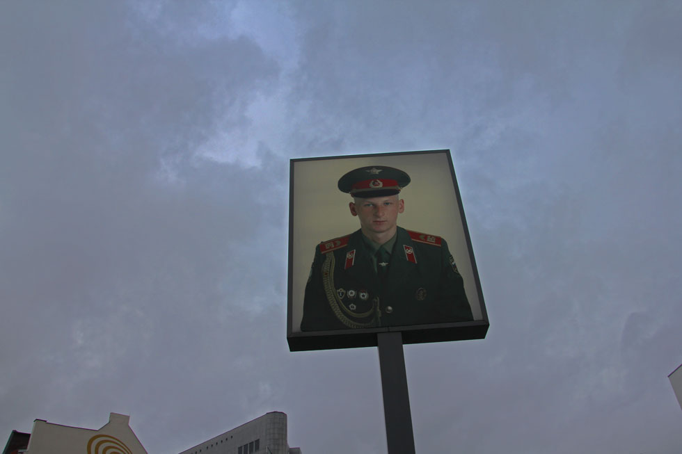 Checkpoint Charlie young 'Soviet' soldier image