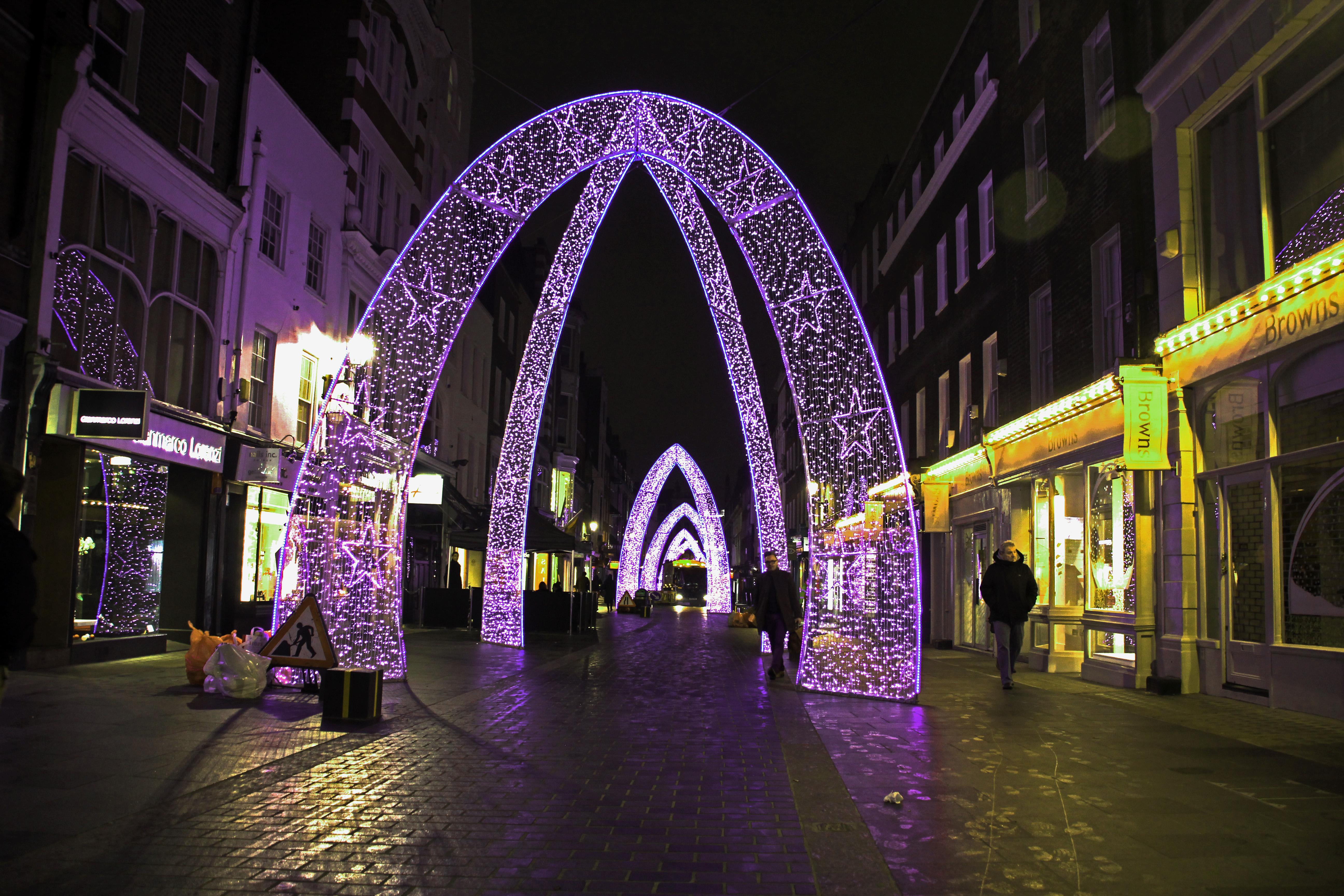 London Christmas Lights Arches © jonovernon-powell
