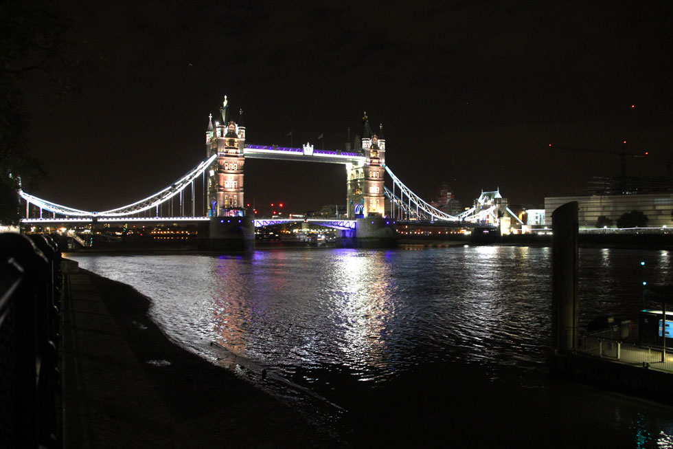 Tower Bridge from Tower of London north bank